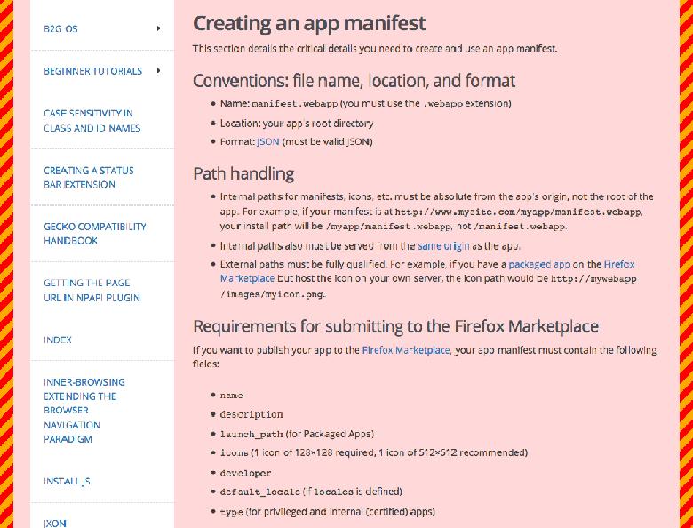 Improve App Manifest Instructions